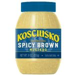 Kosciusko Spicy Brown Mustard (American) - 255g, 9oz